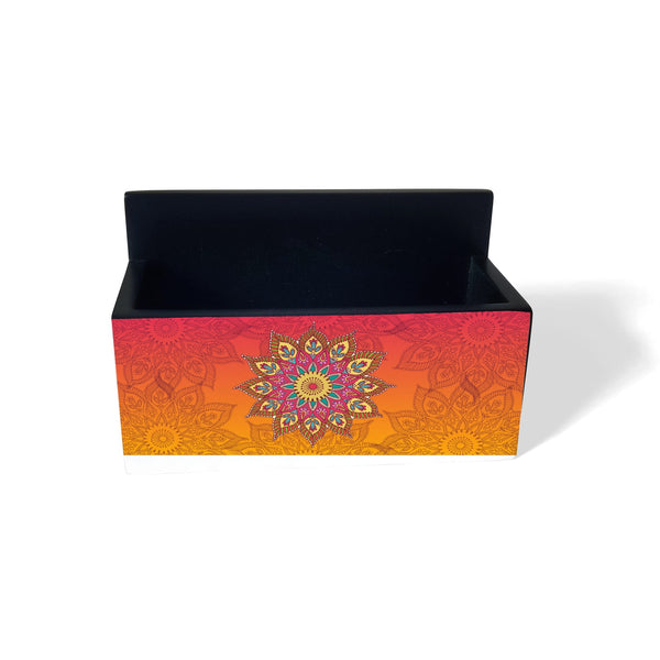 Orange Mandala Visiting Card Holder
