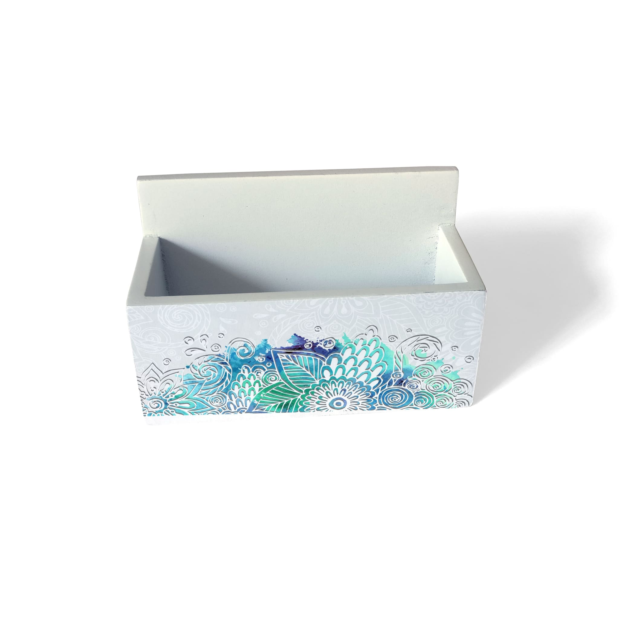 Abstract Flowers Visiting Card Holder