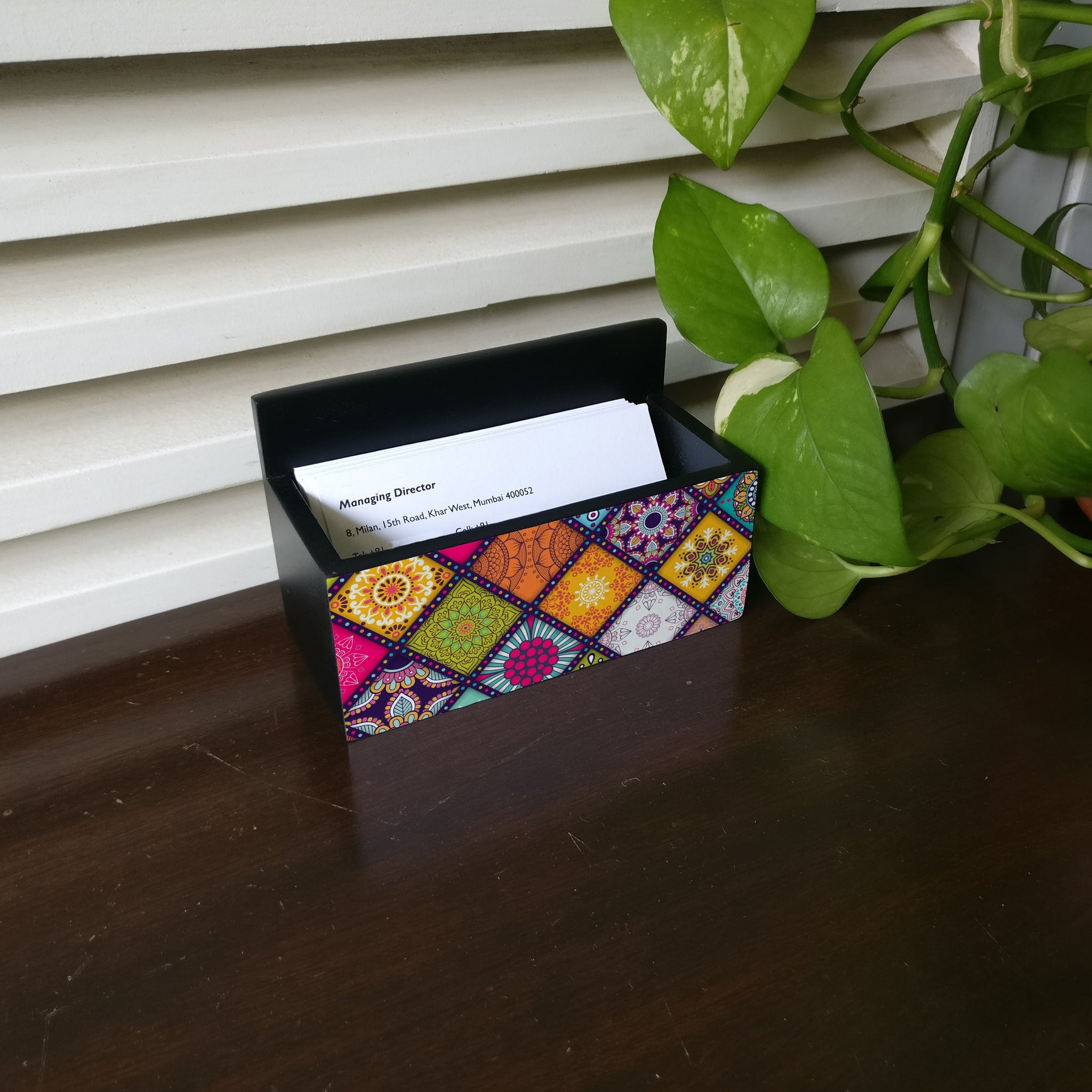 Multi Mandala Visiting Card Holder