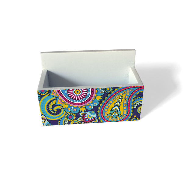 Blue Paisley Visiting Card Holder