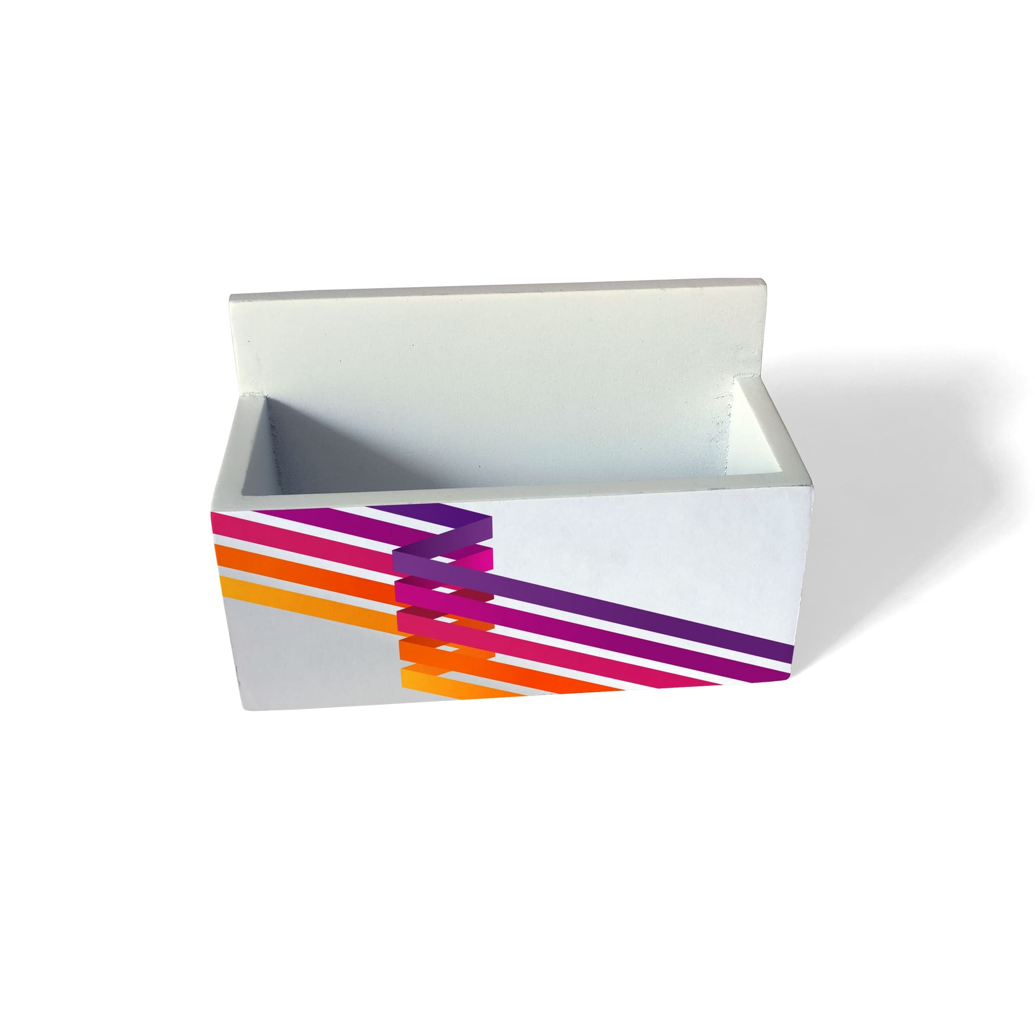 Diagonal Stripes Visiting Card Holder