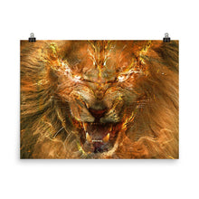Feathers and Fire Lion Poster - Argento Bookstore