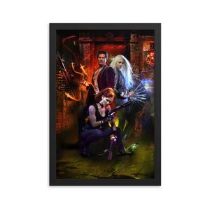 Framed Temple Cast Poster - Argento Bookstore