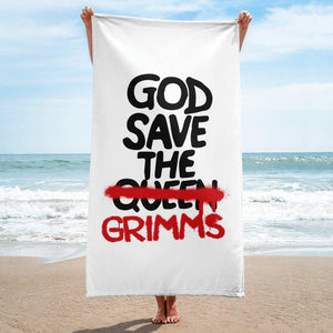 God Save the Grimms Beach Towel - Temple Verse Gear