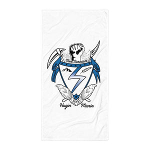 Temple Crest Beach Towel - Temple Verse Gear