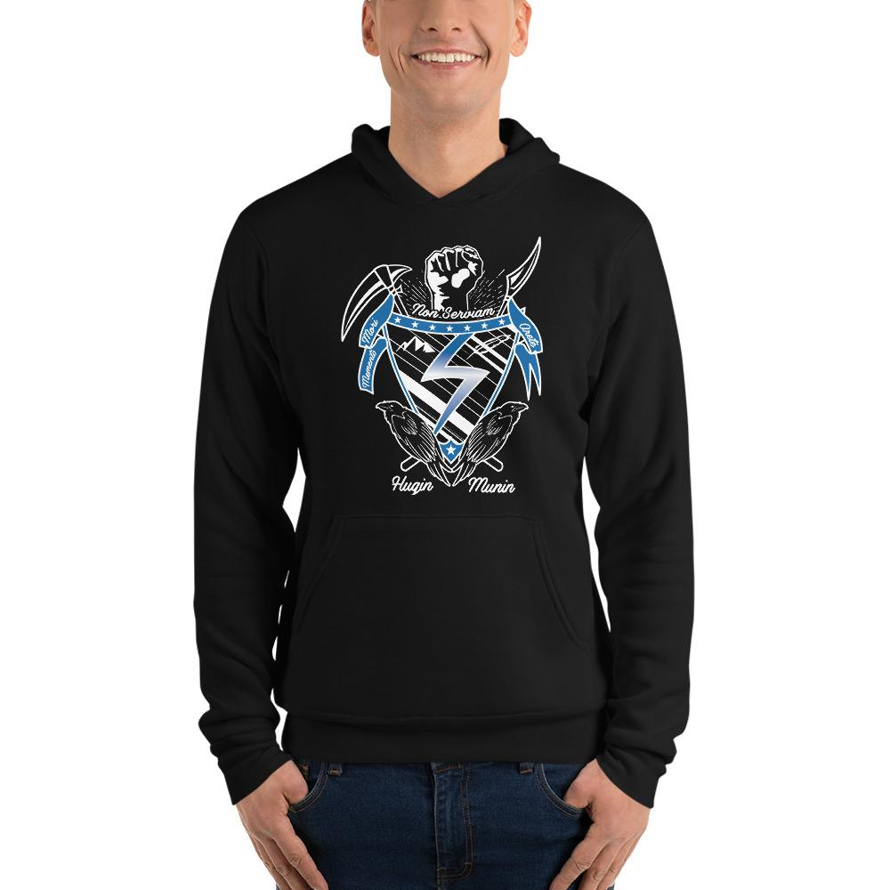 Unisex Temple Crest Hoodie - Argento Bookstore