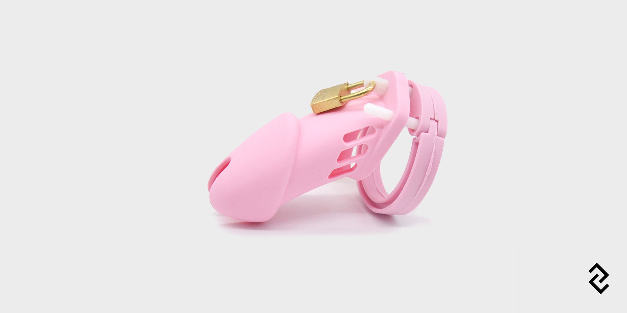 cb6000 is a pink chastity cage made of soft silicone