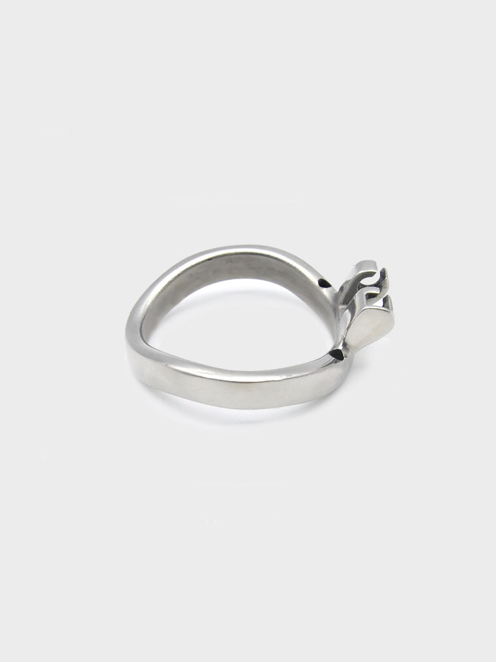 A steel ring for the mens chastity cage