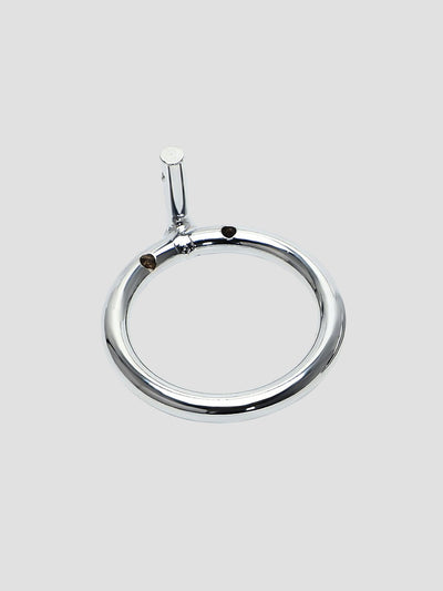 A replacement metal ring for a chastity cage