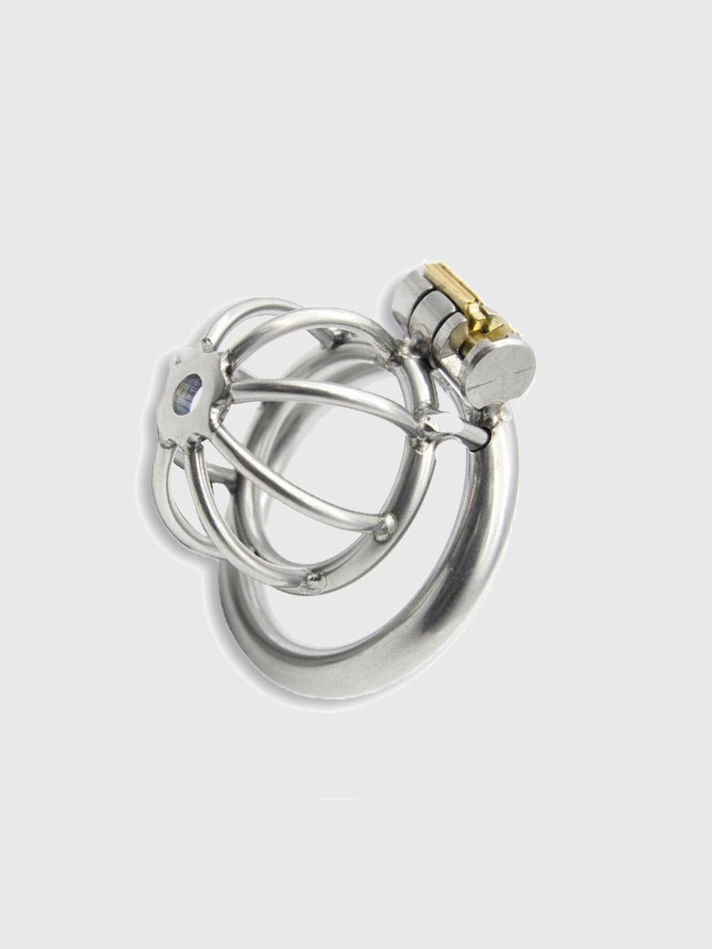 A super small chastity cage to keep your penis locked up