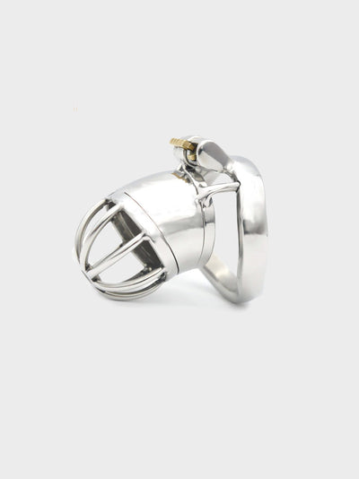 This chastity cage keeps your hands off your bits and your keyholder in control.