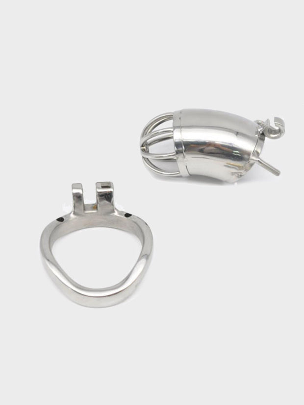 A steel chastity device that keeps your hands off your cock