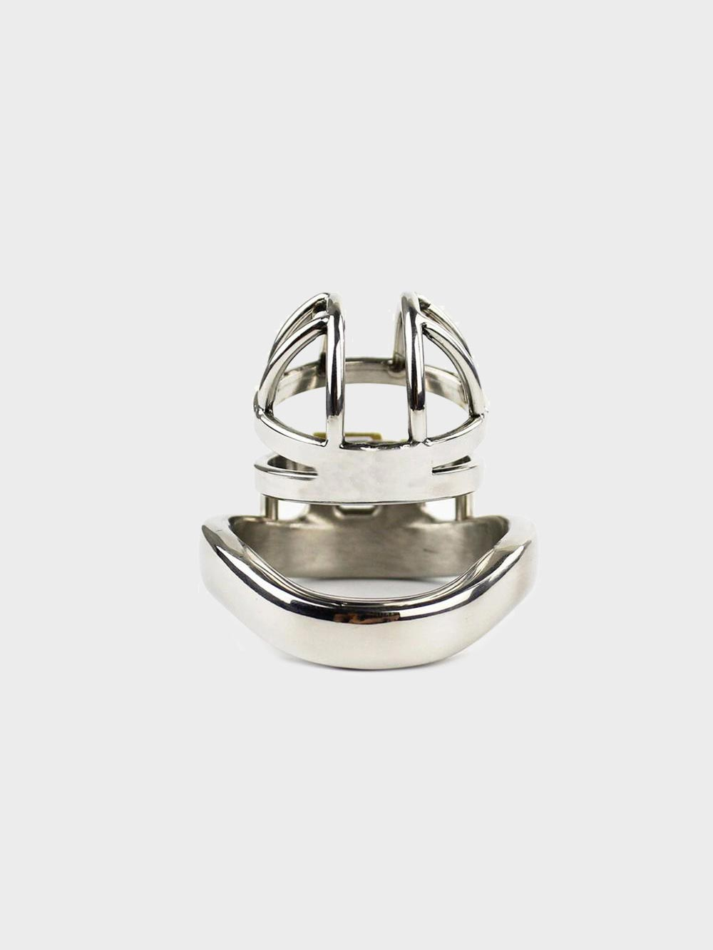Control your husband with this short chastity cage and keep the key.