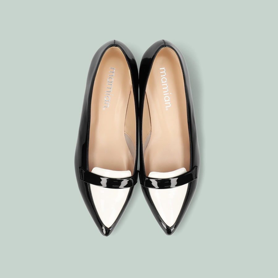 Pointed Toe Loafer (124) Black/C