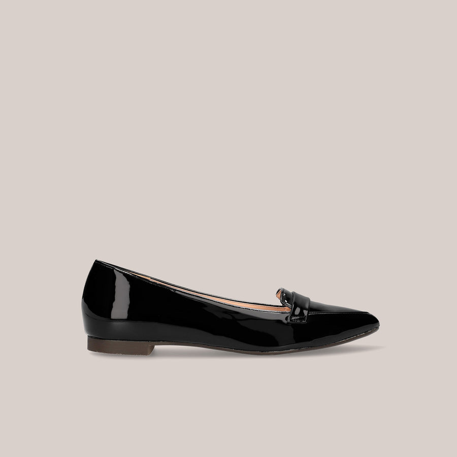 Pointed Toe Loafer (124) Black E