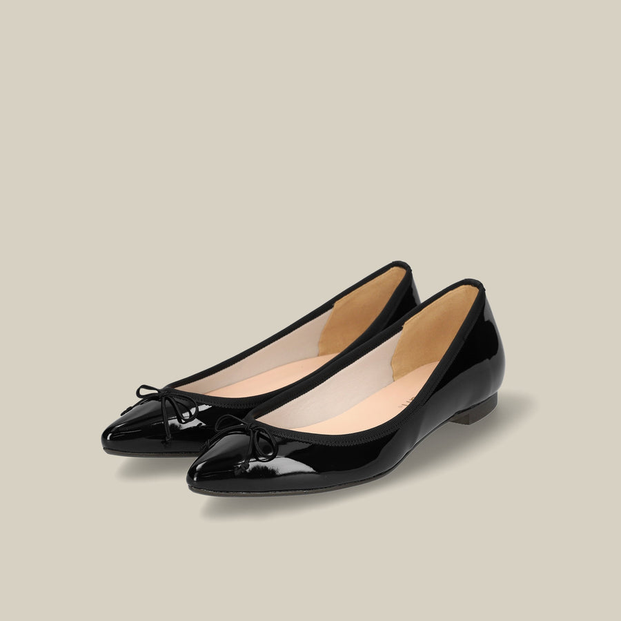 Pointed-Toe Ballet Shoes (1333) Black E