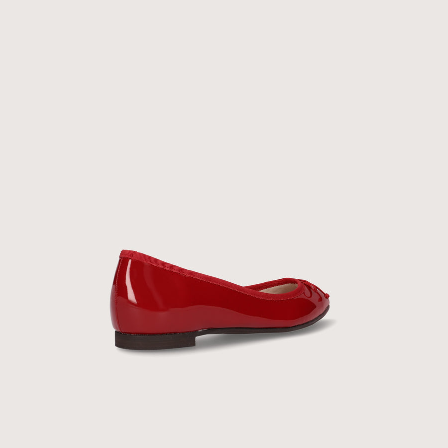 Pointed-Toe Ballet Shoes (1333) Red E