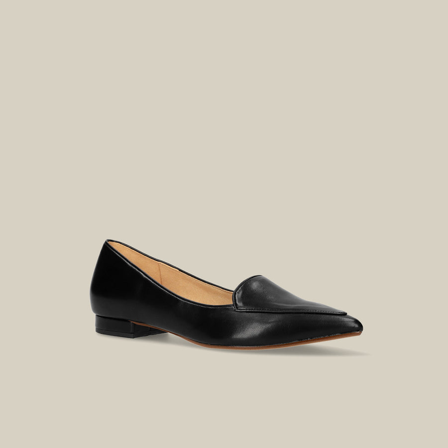 Front Trim Flat Loafer (4767) Black