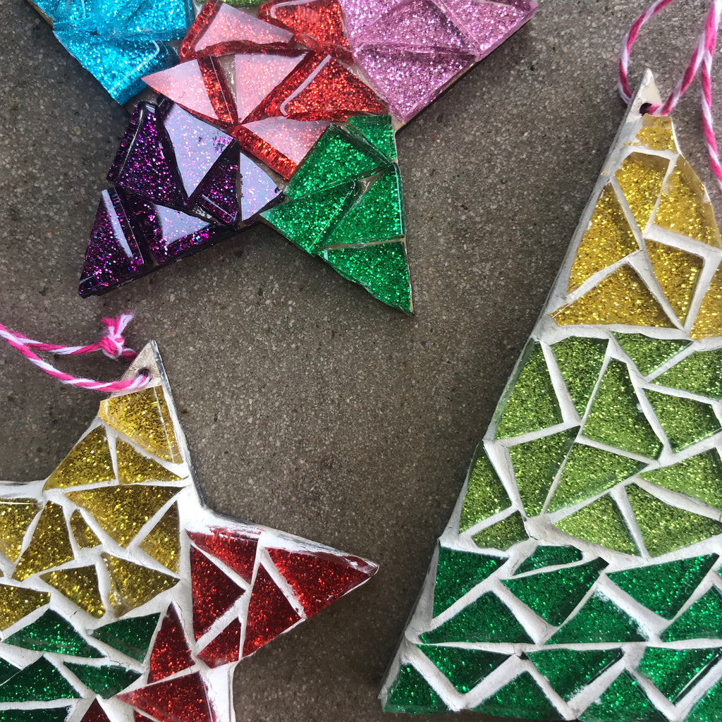 MOSAIC CHRISTMAS ORNAMENTS / SUN DEC 6TH / 9-11AM