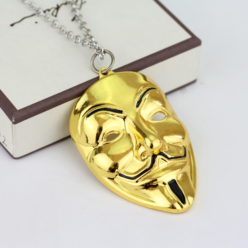 Theater Mask Necklace
