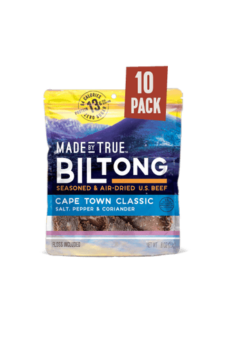 10 Pack Biltong - Classic Beef Slices 0.8oz