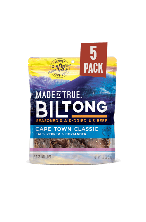 5 Pack Biltong - Classic Beef Slices 0.8oz