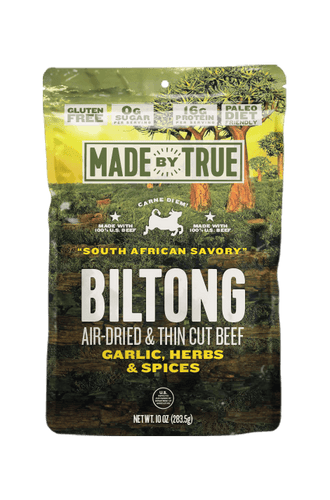 Garlic & Herb Beef Biltong Slices 10oz