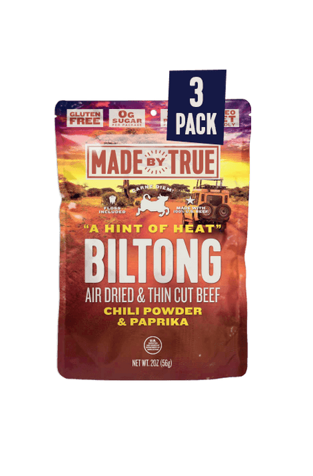 3 Pack Biltong - Chili Beef Slices 2oz