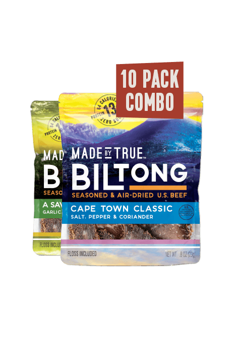 Biltong Combo Pack - Classic and Garlic & Herb 0.8oz