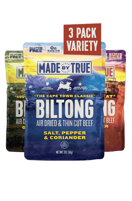 Biltong Combo Pack - Classic, Garlic & Herb and Chili 2oz