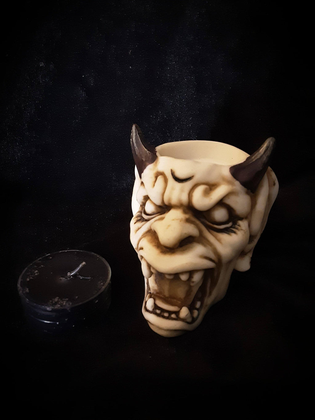 Devils Face Tealight Candle Holder Holders