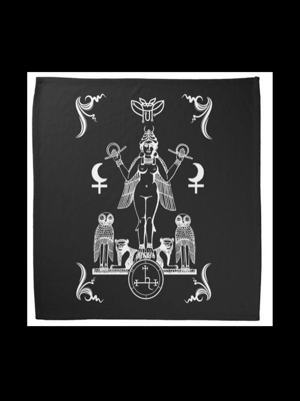 Lilith Queen Of The Night Altar Cloth Banners & Coverings