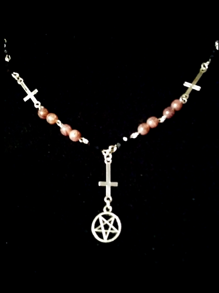 Satanic Rosary Necklace