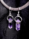 Amethyst Silver Point Earrings Jewelry