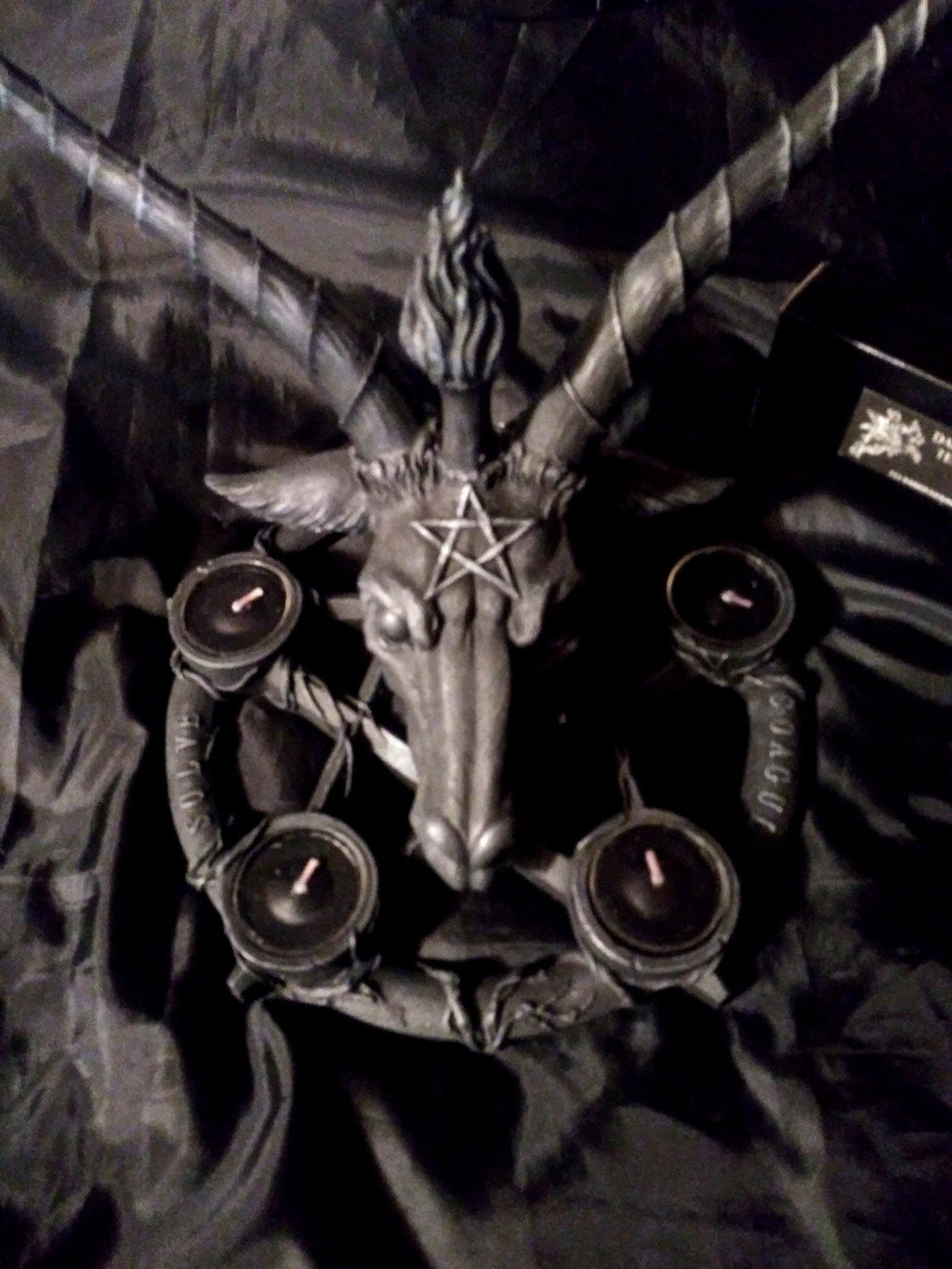 Baphomet & Pentagram Candle Holder Holders