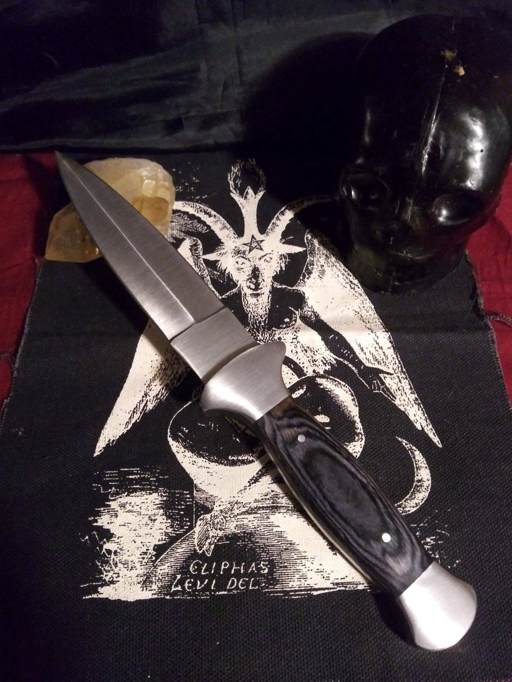Black Handled Boot Dagger