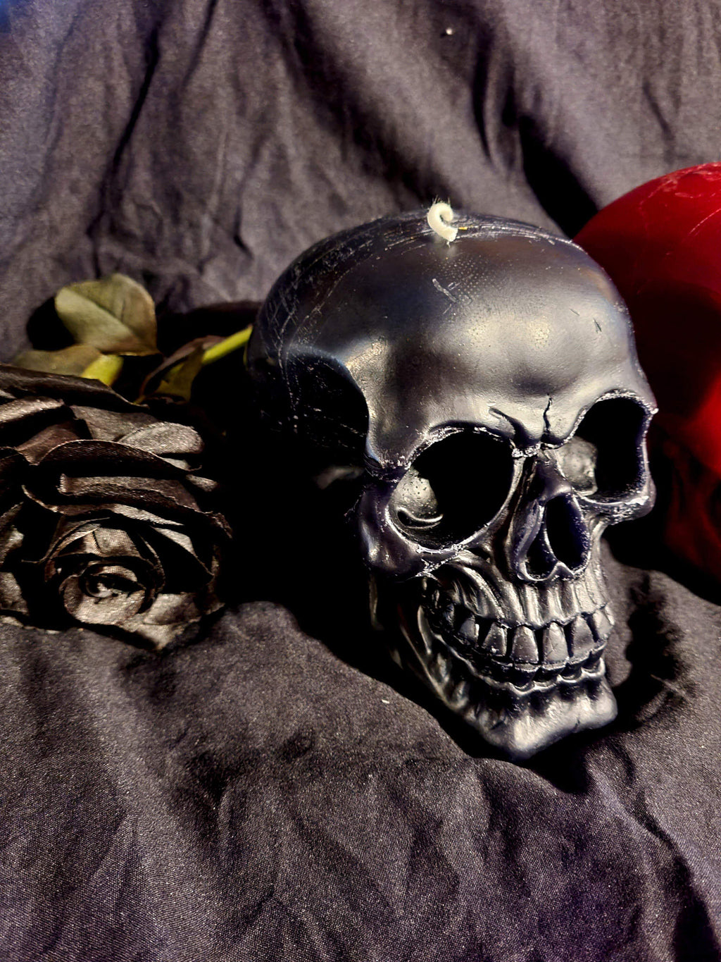 Black White Or Red Large Skull Candle Candles