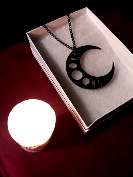 Moon Phase Crescent Pendant