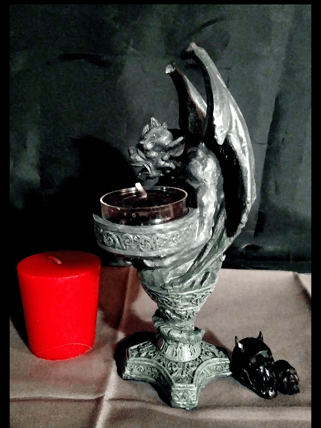 Gargoyle Guide Candle Holder Holders