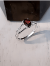 Garnet And Bone Sterling Ring Jewelry