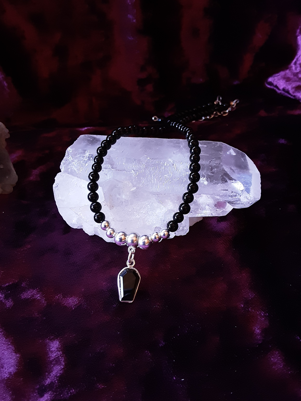 Onyx Coffin Choker Jewelry