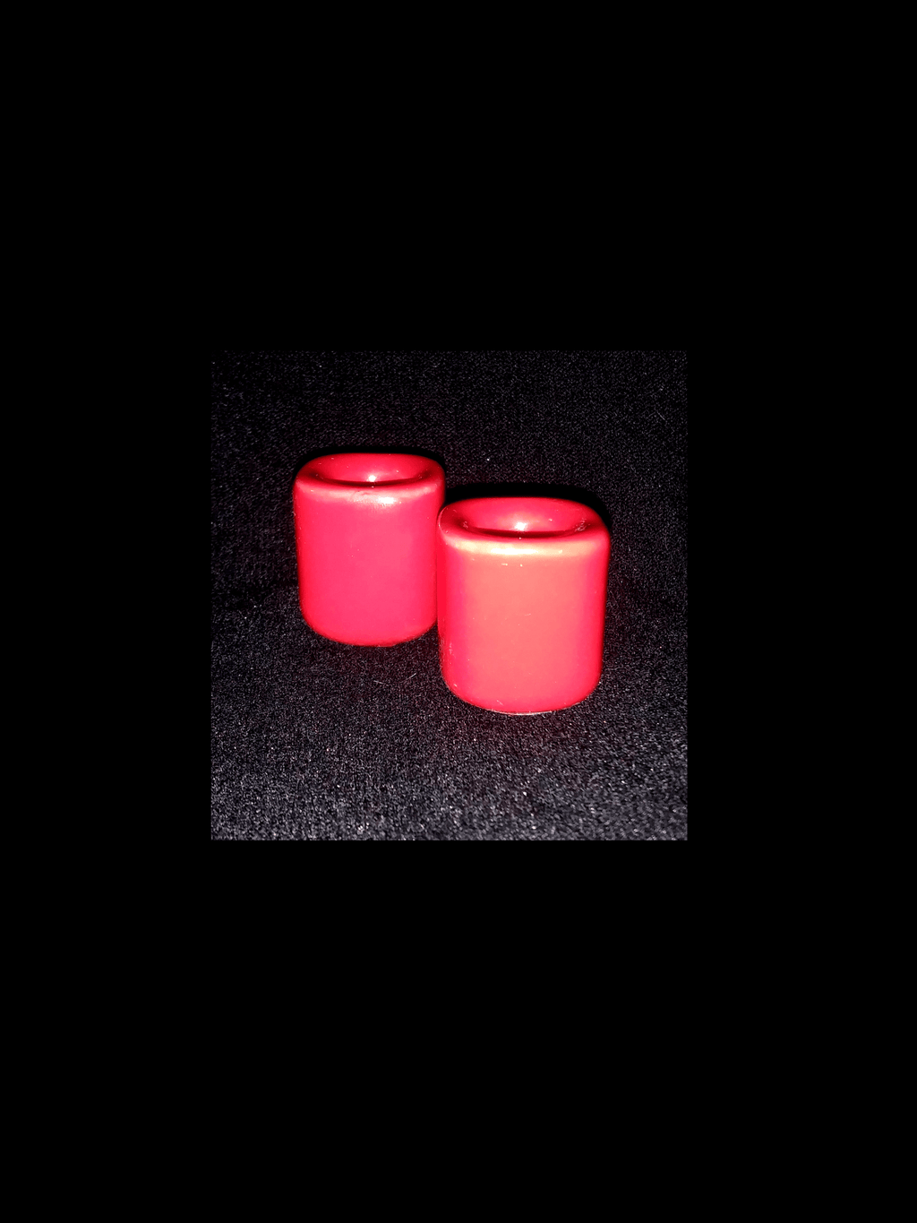 Red Ceramic Mini Candle Holder Holders