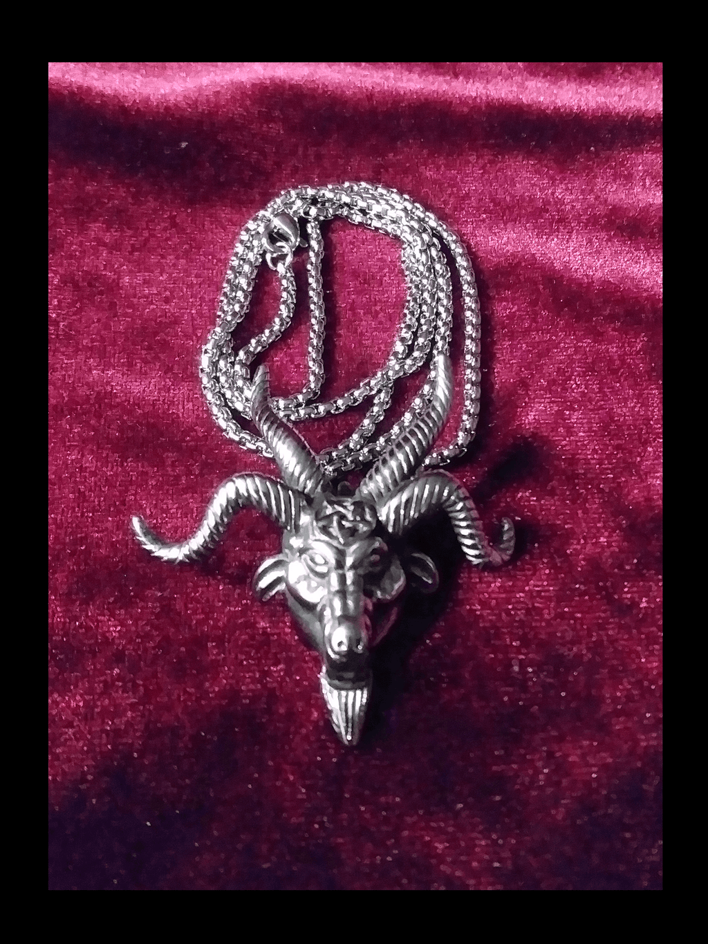 Horned Satanic Goat Pendant Jewelry