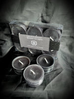 Black Red or White Beeswax Tealight Candles