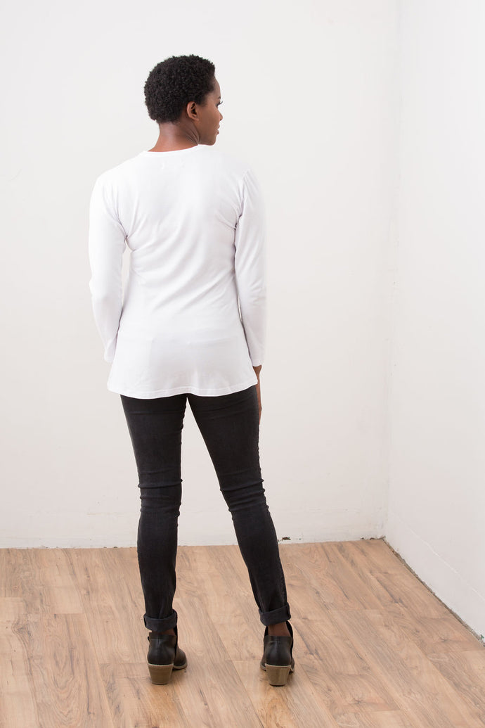 White Long Sleeve-Hastings