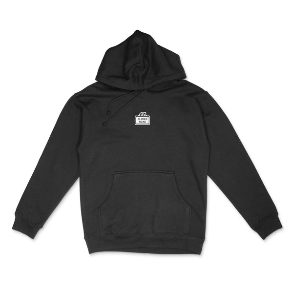 Closed Road Sign Hoodie - Black