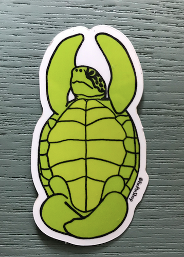 Yoga Zen Turtle, Sea Turtle Sticker