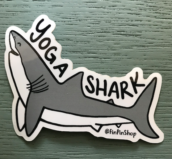 Yoga Shark Sticker