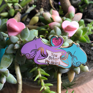 Octopi My Heart Enamel Pin