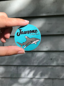 Jawsome shark sticker
